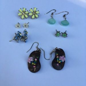 Jewelry - Boho Flowers & Flip Flops Earrings (Bundle of 6)